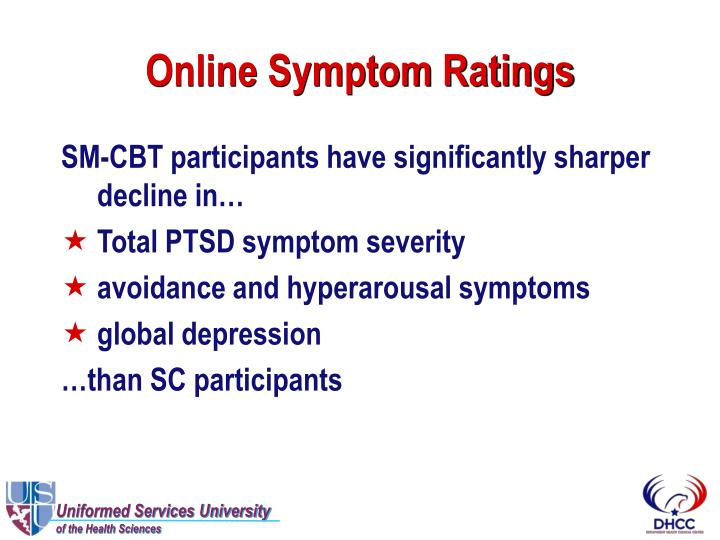 Online Symptom Ratings
