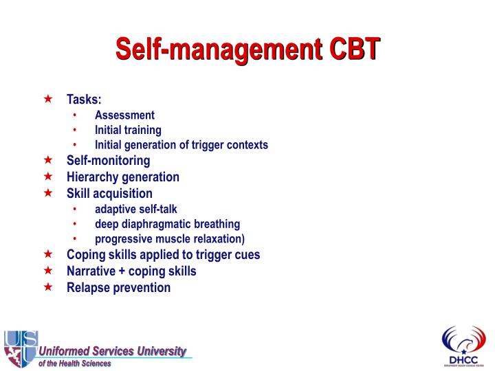 Self-management CBT