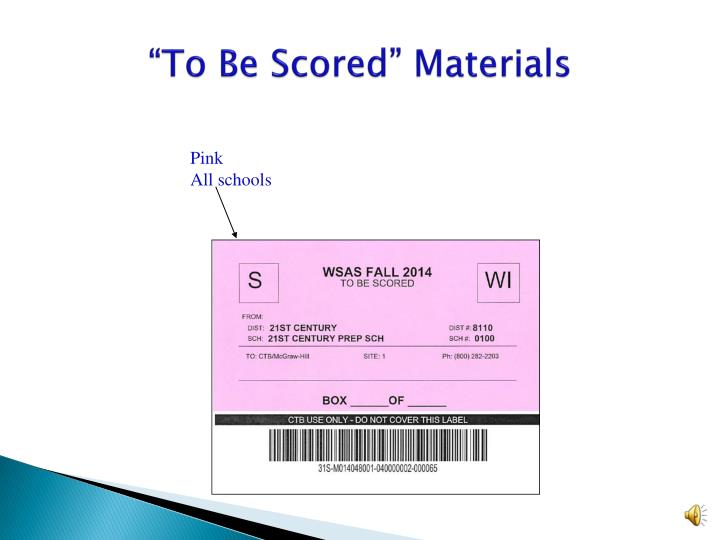 """To Be Scored"" Materials"