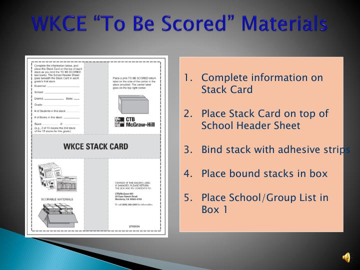 "WKCE ""To Be Scored"" Materials"