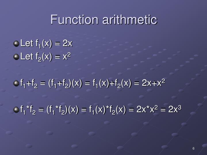 Function arithmetic