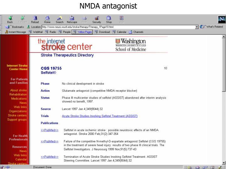 NMDA antagonist