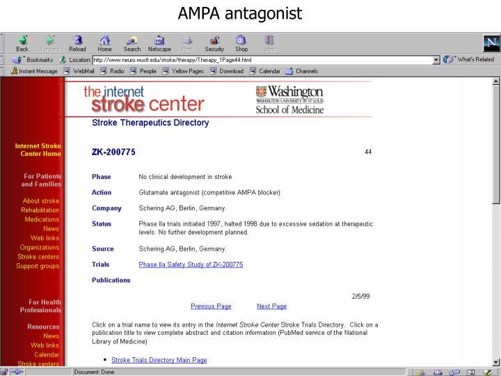 AMPA antagonist