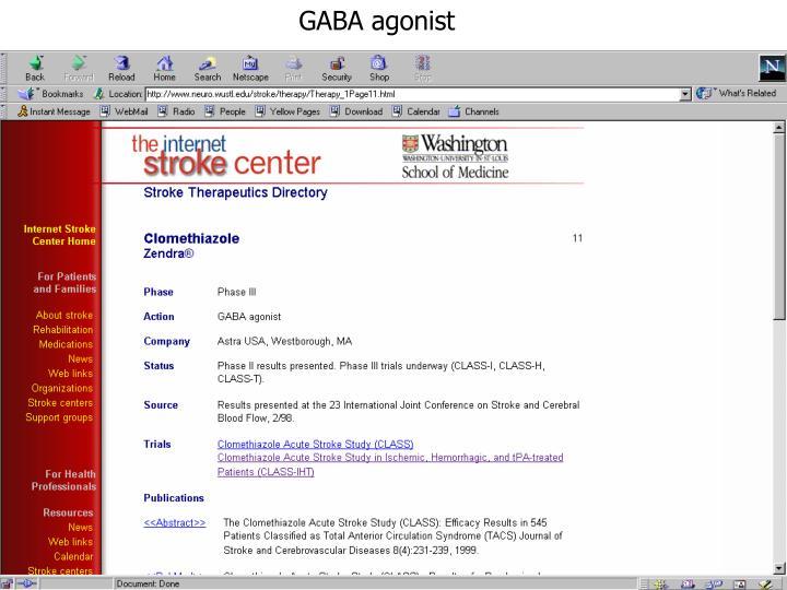 GABA agonist