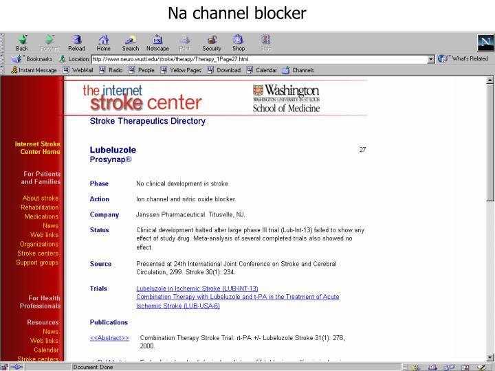 Na channel blocker