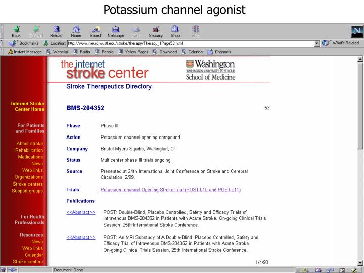 Potassium channel agonist
