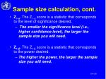 sample size calculation cont1