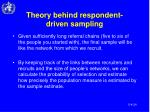 theory behind respondent driven sampling