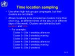 time location sampling