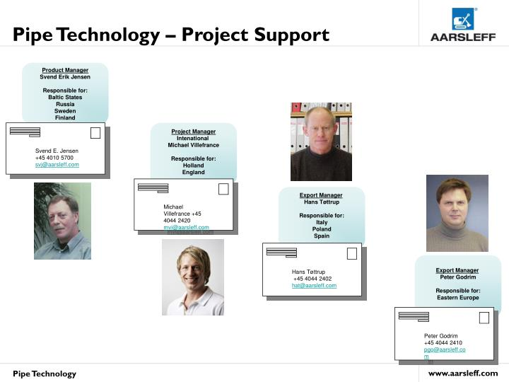 Pipe Technology – Project Support