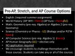 pre ap stretch and ap course options