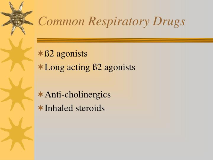 Common Respiratory Drugs