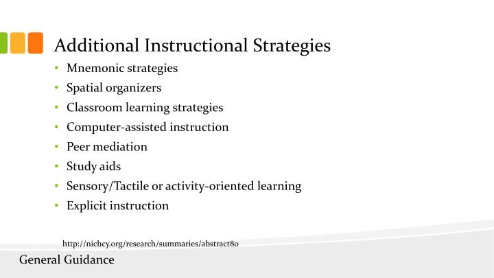 Additional Instructional Strategies