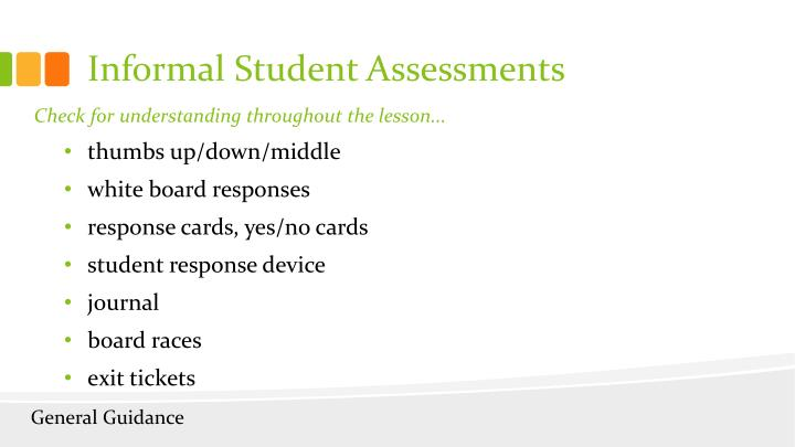Informal Student Assessments