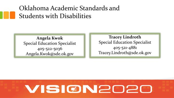 Oklahoma Academic Standards and