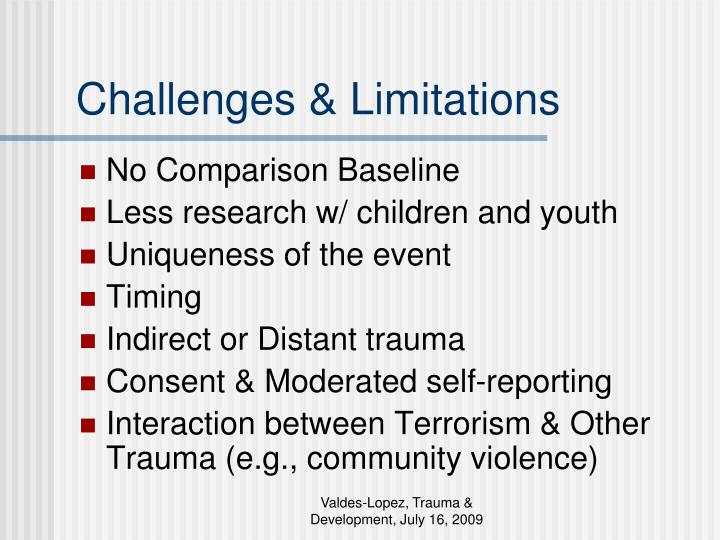 Challenges & Limitations