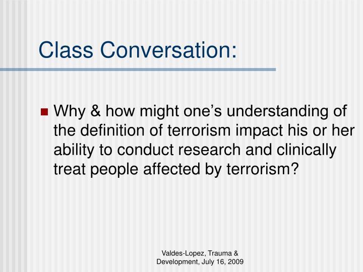 Class Conversation: