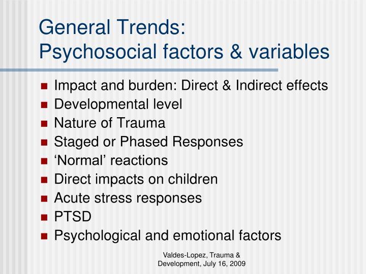 General Trends: