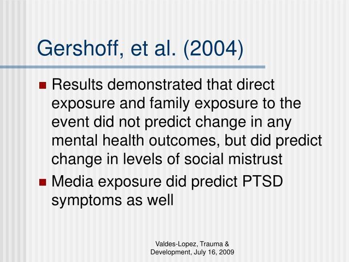 Gershoff, et al. (2004)