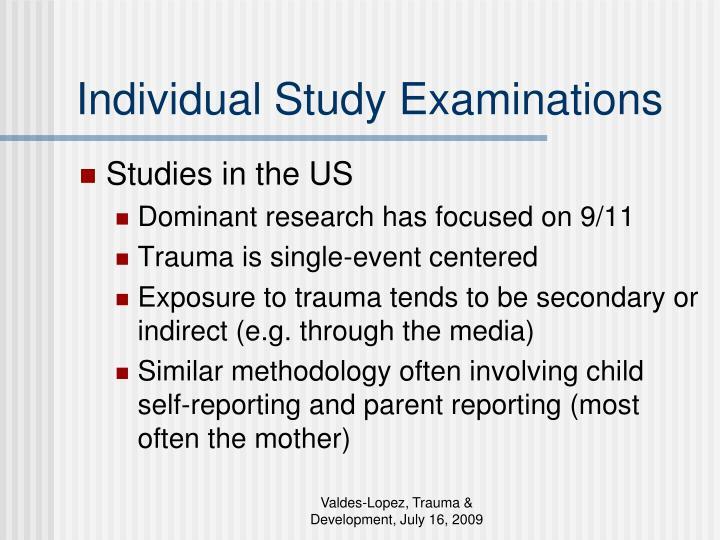 Individual Study Examinations
