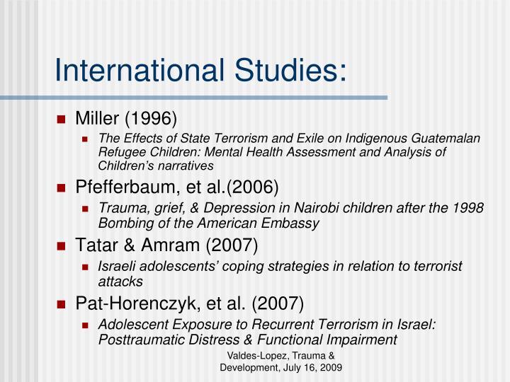 International Studies: