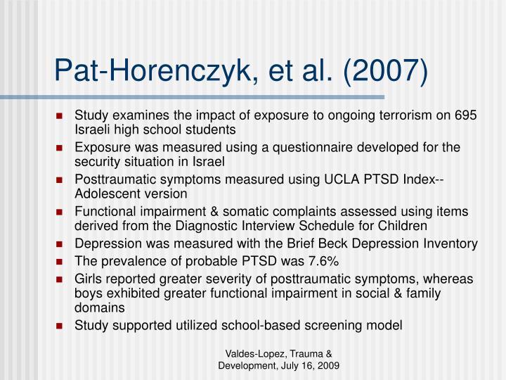 Pat-Horenczyk, et al. (2007)