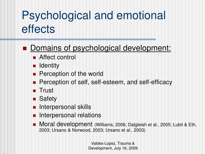 Psychological and emotional effects
