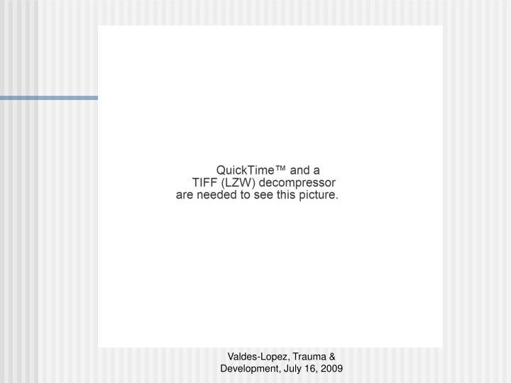 Valdes-Lopez, Trauma & Development, July 16, 2009