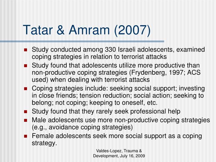 Tatar & Amram (2007)