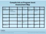 compile info at program level assessment map