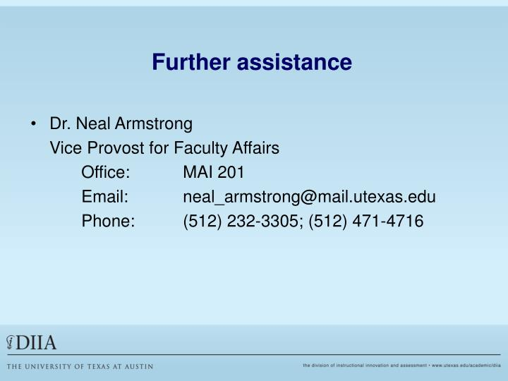 Further assistance