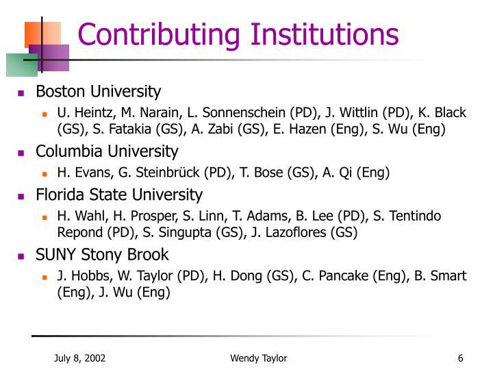 Contributing Institutions