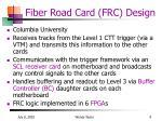 fiber road card frc design