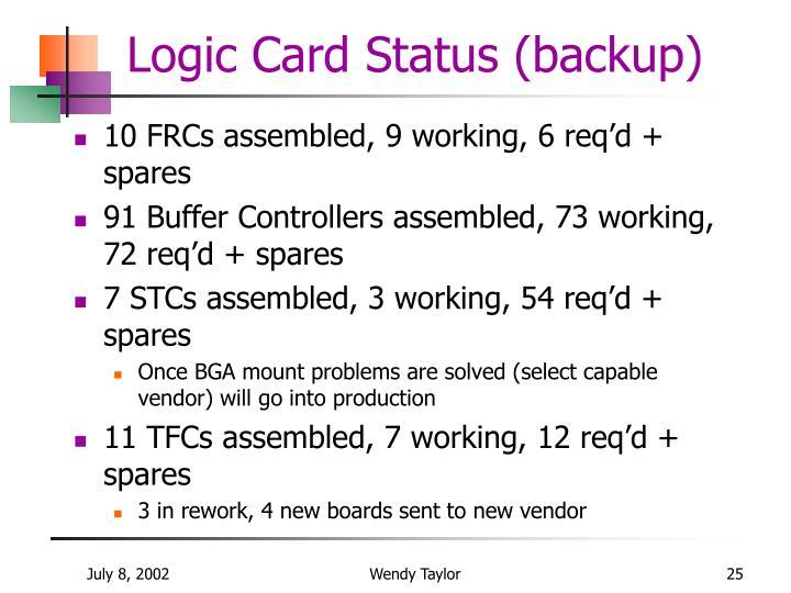 Logic Card Status (backup)