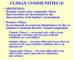 climax communities i