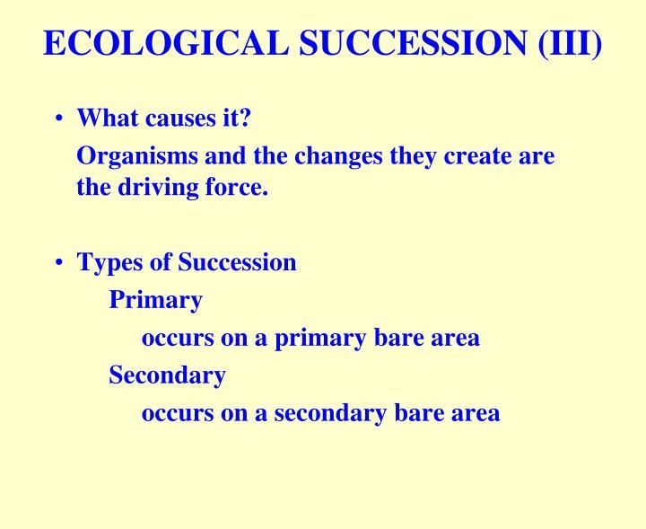 ECOLOGICAL SUCCESSION (III)