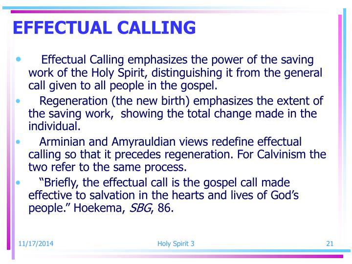 EFFECTUAL CALLING