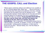the gospel call and election2