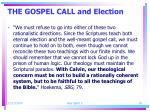 the gospel call and election4
