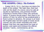 the gospel call its extent4