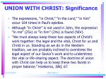 union with christ significance