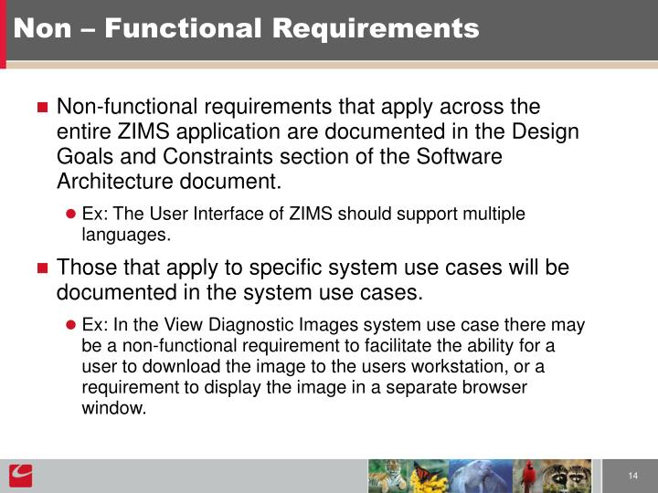 Non – Functional Requirements