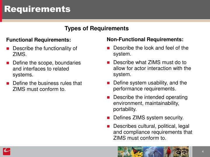 Functional Requirements: