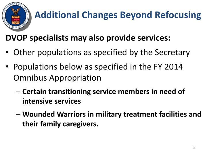 Additional Changes Beyond Refocusing