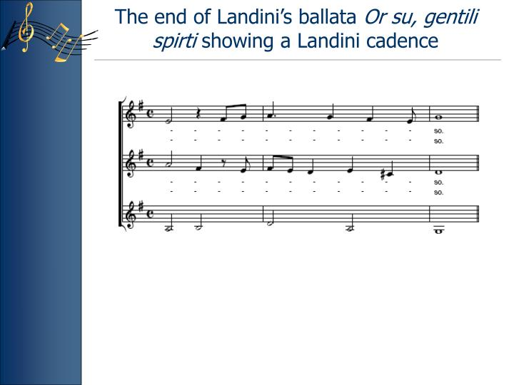 The end of Landini's ballata