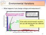 environmental variations