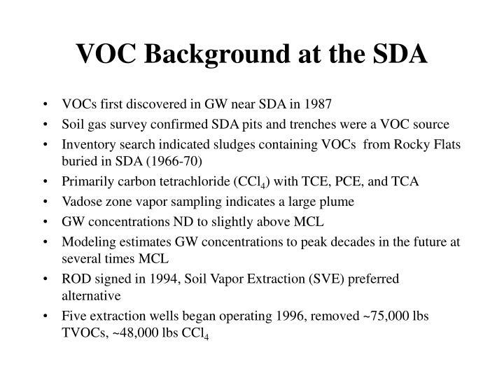 VOC Background at the SDA