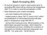 batch annealing ba2