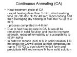 continuous annealing ca2