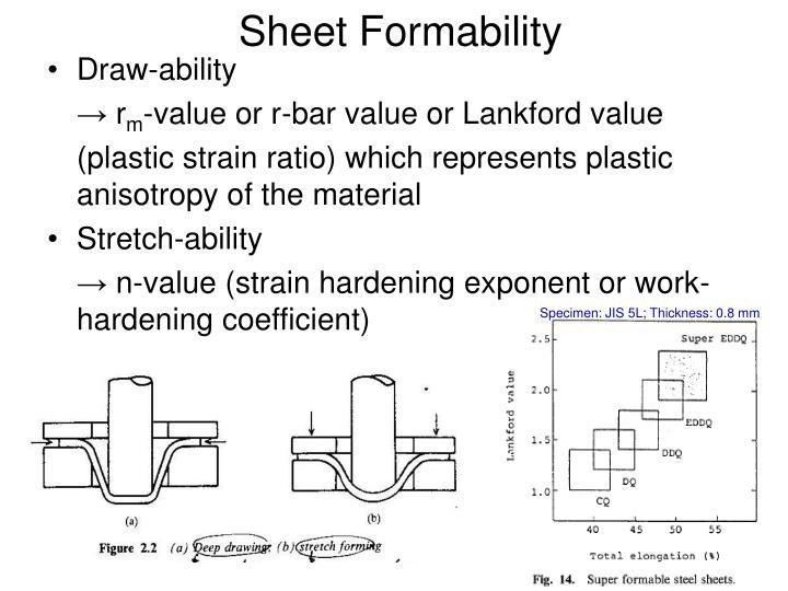 Sheet Formability